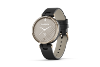 Garmin Lily - Classic Edition Cream Gold Bezel with Black Case and Italian Leather Band