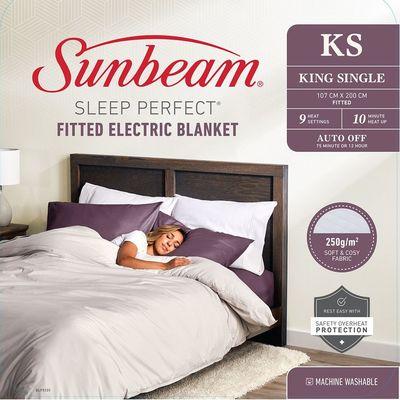 Sunbeam Sleep Perfect King Single Bed Fitted Heated Blanket