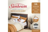 Sunbeam Sleep Perfect Super King Bed Quilted Heated Blanket