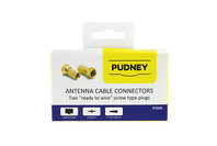 Pudney F Twiston RG6 Coaxial Wire Plugs - 2 Pack