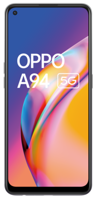 Oppo a94 5g fluid black front rgb lowres