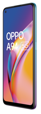 Oppo a94 5g cosmo blue front45right lowres