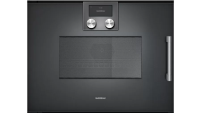 Gaggenau 200 Series Left Hinge Built-in compact oven with microwave function - Anthracite