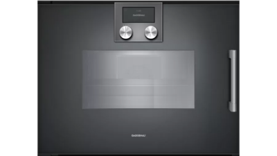 Gaggenau 200 Series Left Hinge Built-in Compact Oven with Steam Function - Anthracite