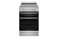 Westinghouse 60cm Stainless Steel Electric Freestanding Cooker with 4 Zone Ceramic Cooktop with Dual Zone