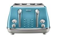 DeLonghi Icona Capitals 4 Slice Toaster - Lisbon Azure