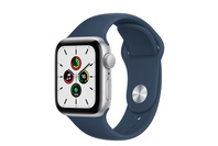 Apple Watch SE GPS, 40mm Silver  Case With Abyss Blue Sport Band - Regular