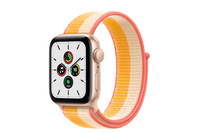 Apple Watch SE GPS + Cellular, 40mm Gold  Case With Maize/White Sport Loop