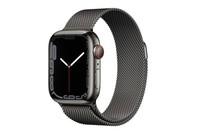 Apple Watch Series 7 GPS + Cellular 41mm Graphite Stainless Steel Case Graphite Milanese Loop
