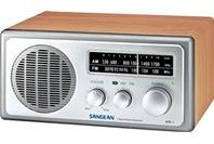 Sangean FM/AM Retro Style Table Radio - Walnut